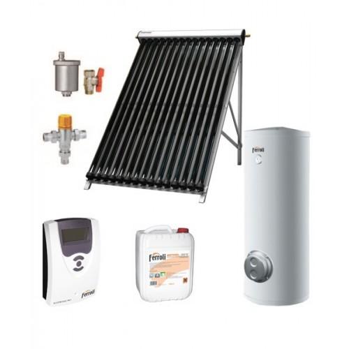 PACHET SOLAR COLECTOR CU TUB VIDAT ECOTUBE NEW 20 SI BOILER ECOUNIT 300-2C WT